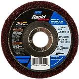 Norton Bear-Tex Rapid Finish Depressed Center High Strength Nonwoven Abrasive Wheel, Aluminum Oxide, Type 27, Fiber Backing, 4-1/2'' Diameter, Grit Medium (Pack of 1)