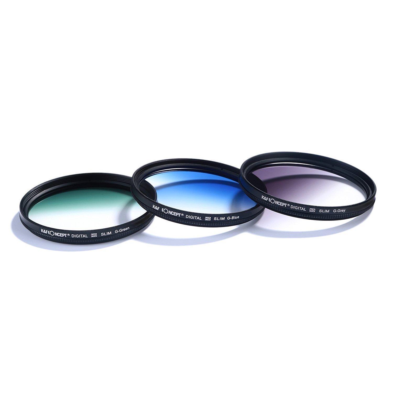 K&F Concept - Kit de Filtros para Objetivo 67 mm UV, CPL, FLD + ...