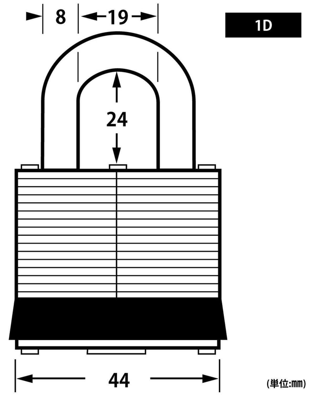 1 Laminated Padlock Master Lock 1D No