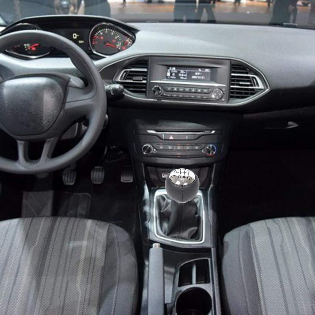 Keptfeet Perilla de Cambio Manual de 6 velocidades del Auto para Peugeot 307 308 3008 407 5008 807 Tepe Partner B9 para Citroen C3 (A51) C4: Amazon.es: ...