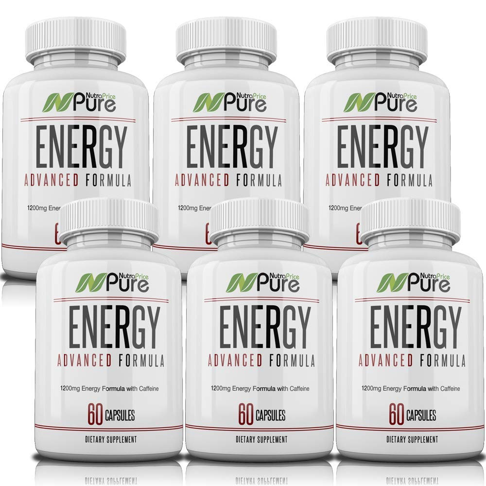 All-Day Energy Blend. Green Tea, Acai, Caffeine, and Kelp Extract. 1,200mg of Natural, Sustained Energy from Sunrise to Sunset. 60 Capsules for Energy & Focus with No Jitters. (6)