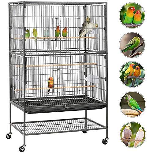 Comprar Jaula para Pájaros - Grande con Ruedas 52 cm x 79 cm x 131 cm - Tienda Online jaulas para pájaros - Envíos baratos o Gratis