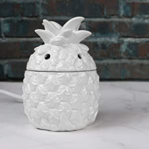STAR MOON Electric Scented Wax Warmer Candle Wax Melter Fragrance Tart Warmer Burner for Scentsy Wax Cubes, Plug in, Ceramic Pineapple 3D Form, No Flame No Smoke No Soot-Pineapple Pattern