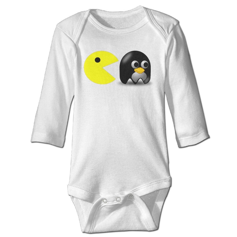 Annabelle Pacmen Long Sleeve Romper Playsuit For 6-24 Months Newborn Baby White