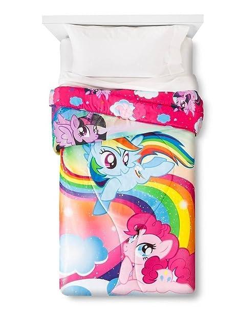 Lenzuola My Little Pony.Hasb My Little Pony Pc Set Lenzuola Con Tessuto Glitter