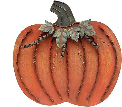 YK Decor Metal Pumpkin Harvest Fall Decor Thanksgiving Halloween Outdoor Yard Garden Decor Free Standing Pumpkin Decorations