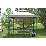 The Outdoor Patio Store 8u0027 X 8u0027 Steel Frame Gazebo With High Grade