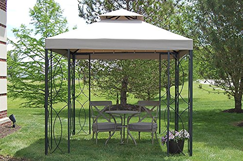 The Outdoor Patio Store 8' x 8' Steel Frame Gazebo with High-Grade 300D Canopy