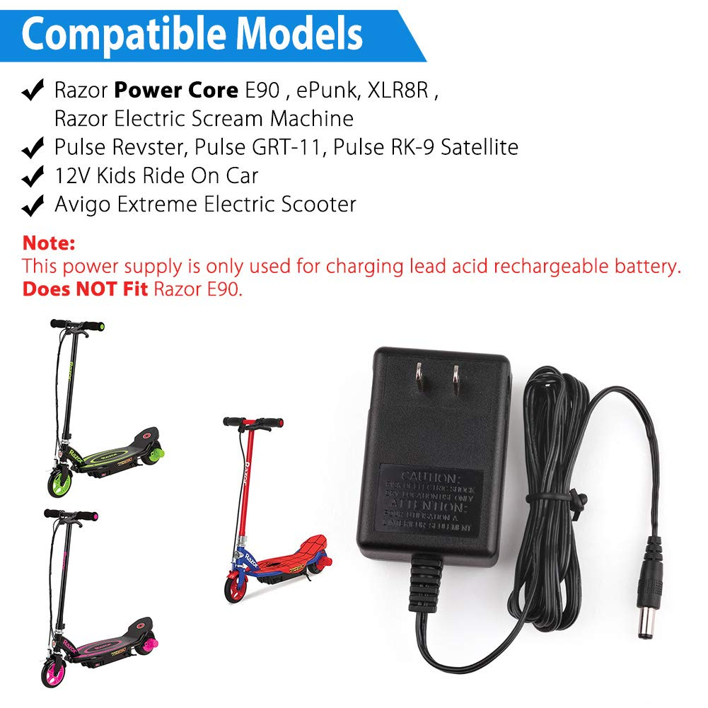 Amazon.com: LotFancy 12V 1A Battery Charger, Compatible with ...