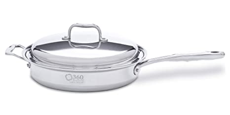 Amazon.com: 360 Cookware – Sartén con tapa (Acero Inoxidable ...