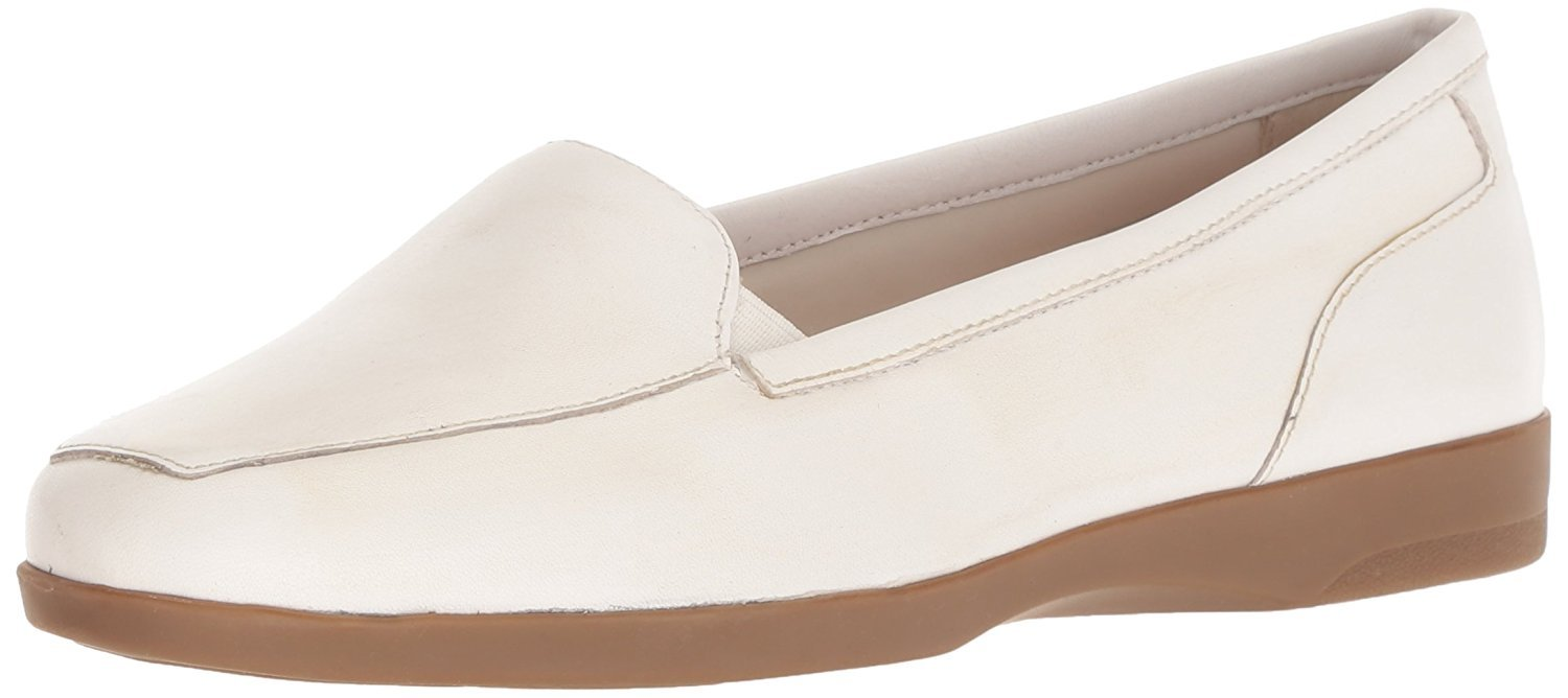 Easy Spirit Women's Devitt Oxford Flat, White, 9.5 M US