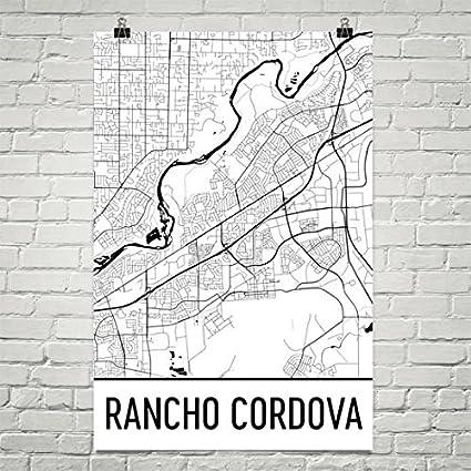 Rancho Cordova California Map.Amazon Com Rancho Cordova Ca Map Rancho Cordova Art Rancho