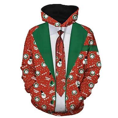 ♚ Sudadera para Hombre Snow Impresa en 3D, para Hombre Jersey de Navidad Sudadera con Capucha de Manga Larga Tops Blusa Absolute: Amazon.es: Ropa y ...