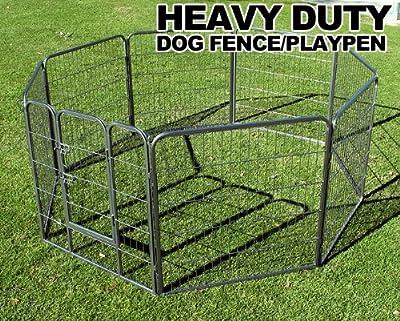 """New MTN Gearsmith 40"""" Heavy Duty Dog Indoor/Outdoor Deluxe Metal Fence/ Exercise Pan Playpen"""