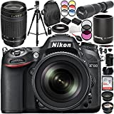 Nikon D7100 DSLR Camera with 18-140mm Lens and 70-300mm f/4-5.6G Lens 20PC Accessory Bundle (Certified Refurbished)