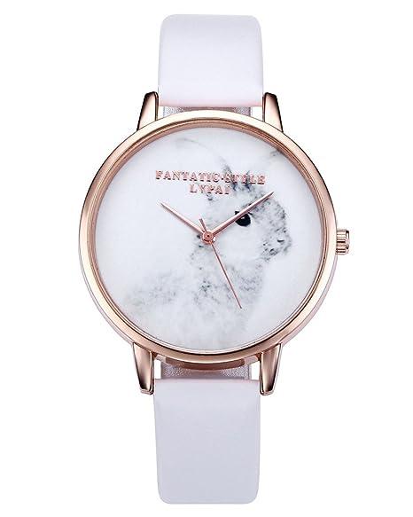 jsdde Relojes, Vintage Cute Conejo Reloj de pulsera maedchen Mujer Reloj PU banda de piel