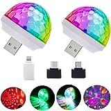 USB Mini Disco Lights, Stage DJ Lights, Magic Ball Lights, Stage Lights, USB Port Power, Birthday Party Christmas Family KTV