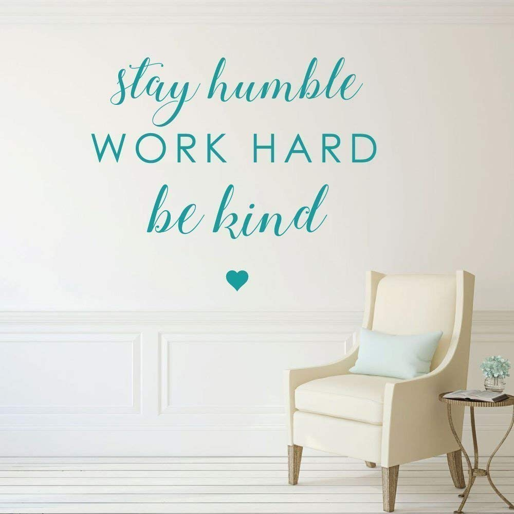 """3"""" Retro Style Play Work Hard Be Kind Quote Motivation Vinyl Cool Sticker"""