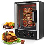 Nutrichef Upgraded Multi-Function Rotisserie Oven - Vertical Countertop Oven with Bake, Turkey Thanksgiving, Broil…