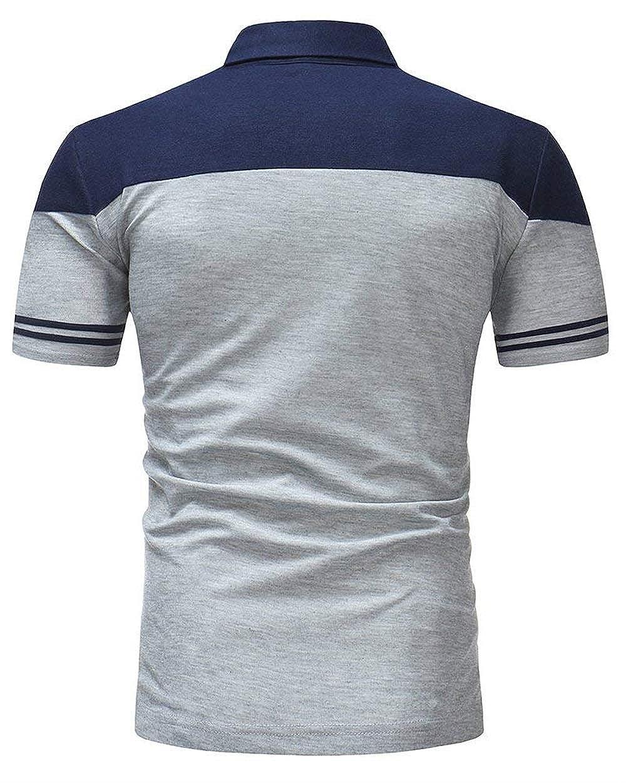 Camisa De Polo De Los De La Hombres Solapa del Verano Polo Cómodo ...
