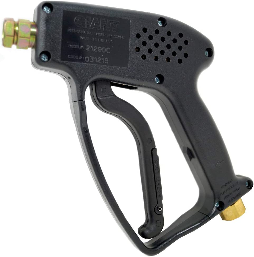 GIANT Trigger Gun - Pressure Washer - 21290C - and Brass Fitting Shut-Off / 5000psi, 10 GPM/Durability/Made in USA