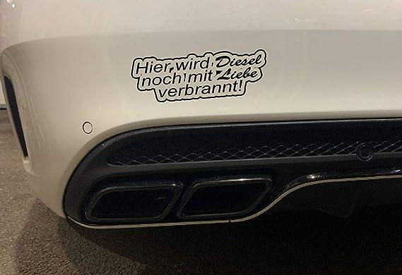 Aufkleber Hier Wird Diesel Noch Mit Liebe Verbrannt Autoaufkleber Umwelt Feinstaub Sticker Jdm Schwarz Auto