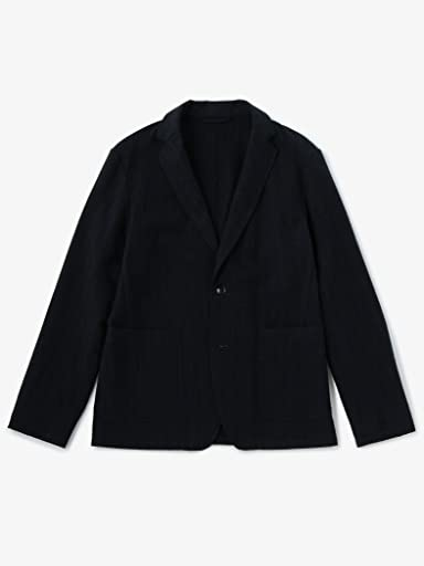Stripe Wool 2-button Jacket 1122-199-4620: Navy