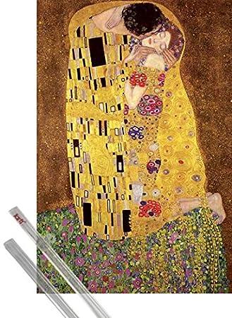 MDF 1art1 Gustav Klimt Poster Stampa e Cornice 1908 91 x 61cm - Il Bacio