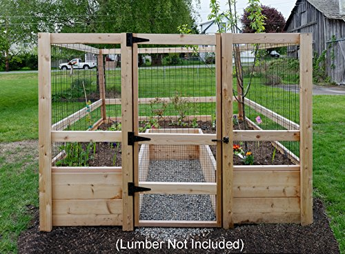 Deer-proof Just Add Lumber Vegetable Garden Kit - 8'x8'