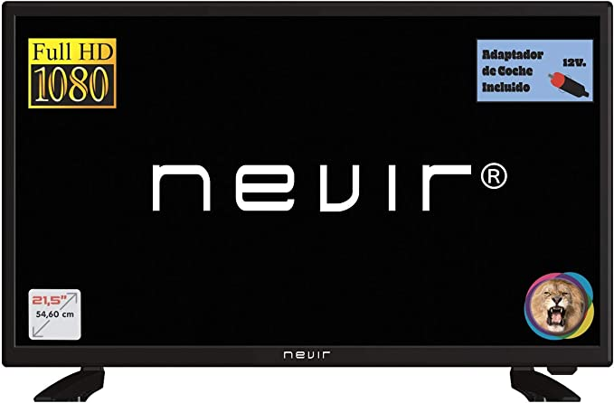 Nevir TV Led NVR-7708-22FHD2-N, 22 Pulgadas, Full HD, Adaptador 12V Coche: Amazon.es: Electrónica