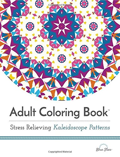 Adult Coloring Book Relieving Kaleidoscope