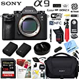 Sony a9 Full Frame Mirrorless Interchangeable Lens Camera Body ILCE9/B Extra Battery Case 128GB Memory Deluxe Photography Bundle