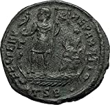 351 IT CONSTANTIUS on SHIP w Phonix Victory 351AD Authen coin Good