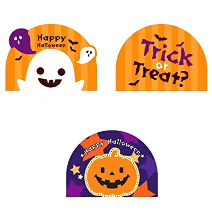 blesiya 100pcs Halloween - Bolsas de celofán con caramelos ...