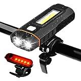 Juego de Luces para Bicicleta, WZTO 500 Lumens Lámparas LED para Bicicleta USB Recargable IPX4