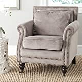 Safavieh Mercer Collection Karsen Club Chair, Mushroom Taupe For Sale
