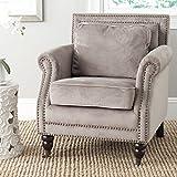 Safavieh Mercer Collection Karsen Club Chair, Mushroom Taupe For Sale