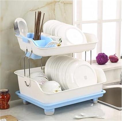 Estantería de decoración de muebles Doble Cocina Armario Estantería ...