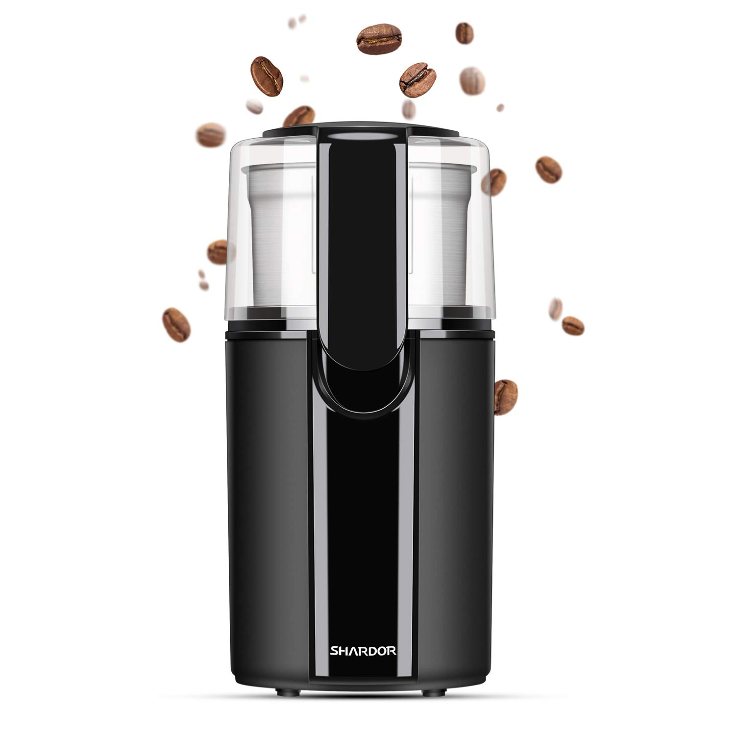SHARDOR Electric Blade Grinder for Coffee, Grain Mill with Removable Cup, Black, CG618B1