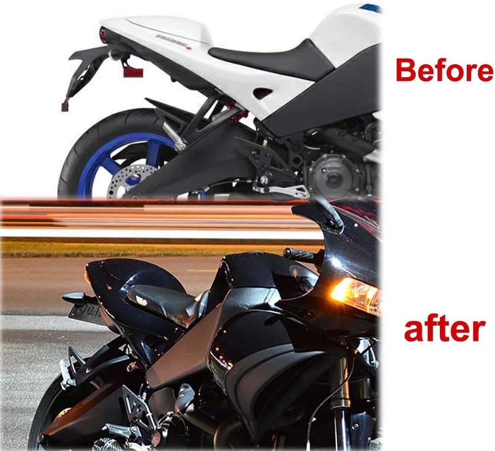 Rear Tail Tidy with LED License Plate Light For Buell 1125R 2008 2009 2010 2011 Xitomer 1125R Fender Eliminator Kits Compatible with OEM//Stock Turn Signal