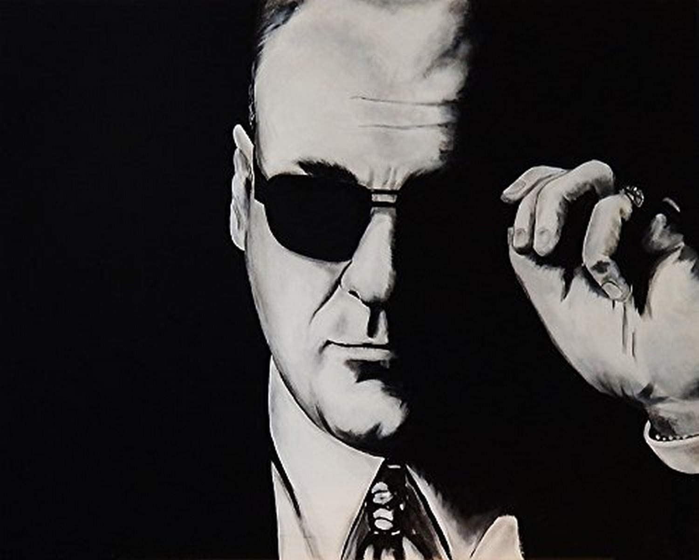 Buyartforless Tony by Ed Capeau 18x12 Art Print Poster Wall Decor The Sopranos Mafia Italian Mob Character Sopranos Mob Boss