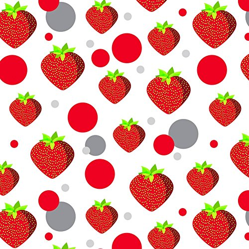 - Premium Gift Wrap Wrapping Paper Roll Pattern - Food Drink Bacon Coffee - Strawberry