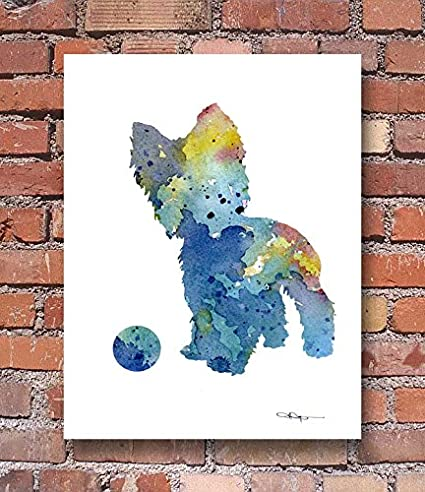 "Cat Abstract Watercolor Painting 11/"" x 14/"" Art Print by Artist DJ Rogers"