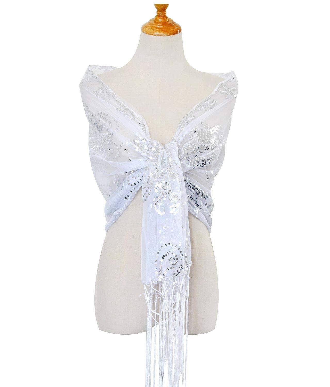 anni 20 con brillantini LVOW Stola Paillettes Gatsby 1920s Scaldacollo da donna
