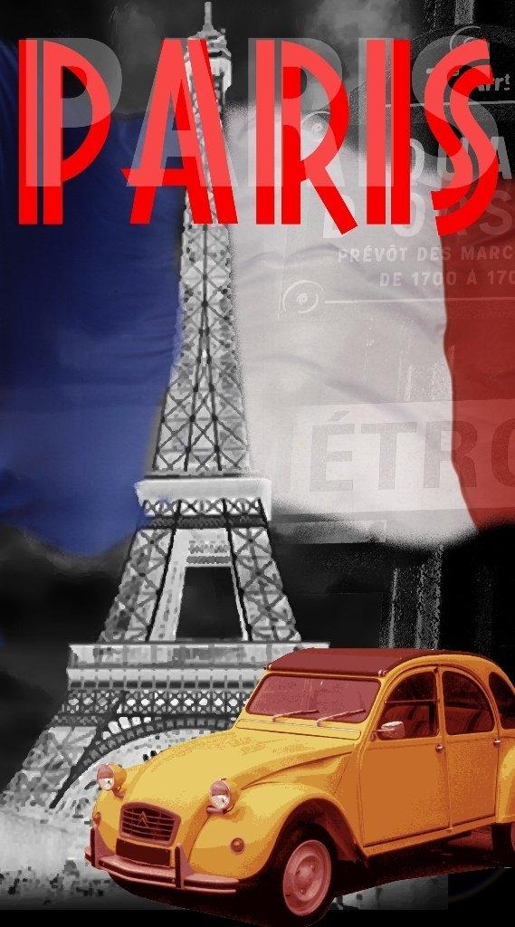 Gé né rique Drap DE Plage Paris Tour Eiffel Serviette Eponge Velours Imprimee 95x175cm Soleil Grenadine