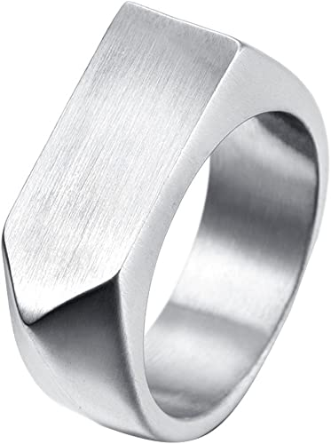 Stainless Steel Polished /& Antiqued Cross Ring Size 9 Length Width