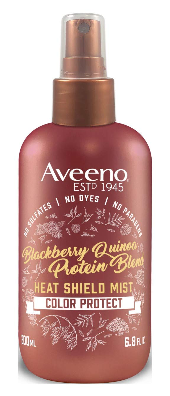 Aveeno Heat Shield Mist Blackberry & Quinoa 6.8 Ounce (200ml) (2 Pack)
