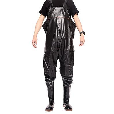 Dooxi Pantalones Impermeables de Pesca Hasta el Pecho Transpirable Neopreno Vadeadores Bota