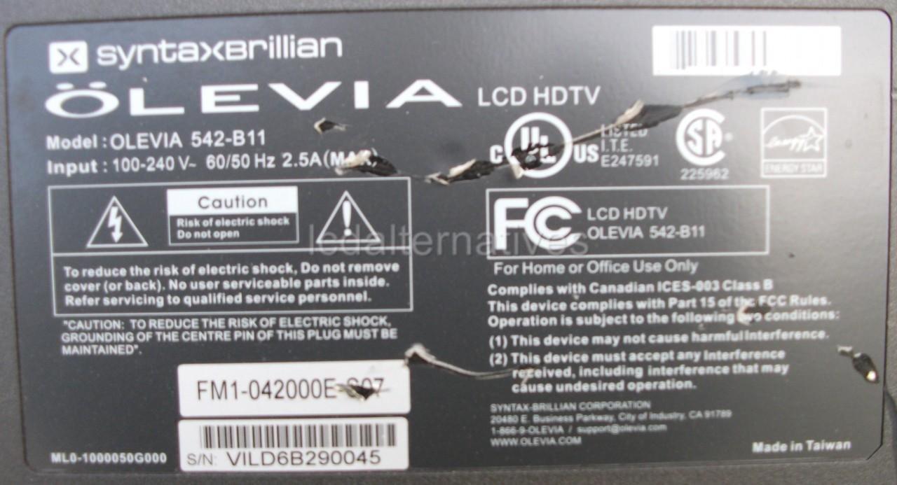 repair kit olevia 542 b11 lcd tv capacitors not the entire board rh amazon com