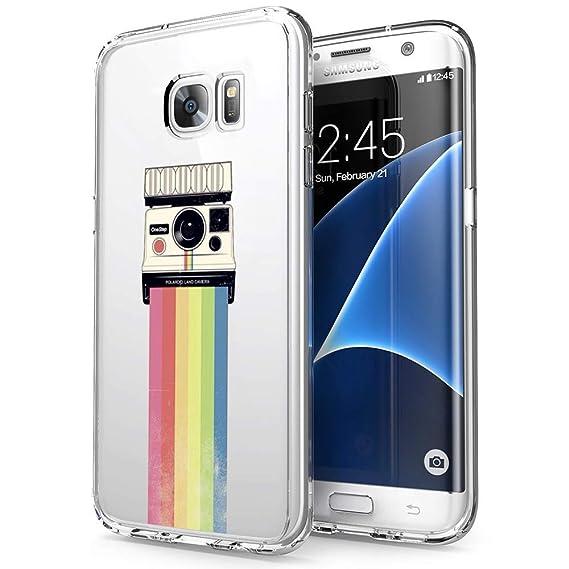 reputable site 0ab20 595c9 Amazon.com: Case for Samsung Galaxy S7 Edge ,Rainbow Polaroid ...